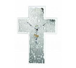 croce da parete moderna con preghiera padre nostro incisa