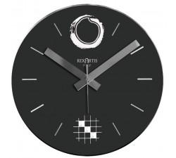 orologio da soggiorno, colore nero, rotondo, rexartis