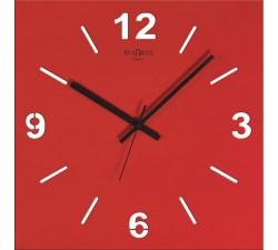 orologio da parete classico, rosso