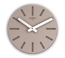 orologio da parete rotondo tortora alioth rexartis