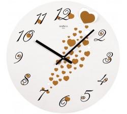 orologio da parete con cuori, idea regalo san valentino