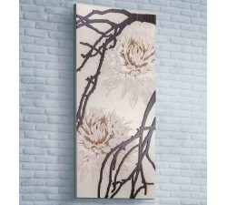 decorative panel in wood with floral motif