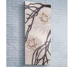 pannello decorativo in legno con motivo floreale