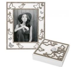 portafoto in legno rovere con cofanetto abbinato