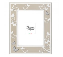 portafoto nocciola con decorazione farfalle