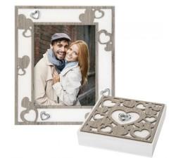 idea regalo san valentino portafoto cuori con cofanetto