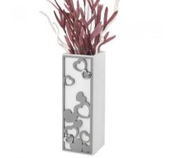 vaso decorativo con cuori