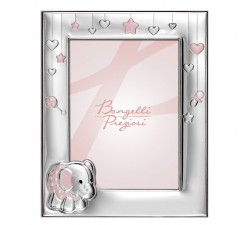photo carrier baby girl with silver frame