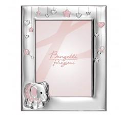 portafoto bimbo bimba con cornice in argento