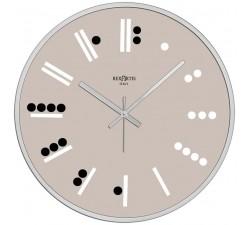 orologio da muro moderno rotondo maya rexartis in vetro serigrafato