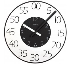 orologio da parete rotondo rexartis double nero