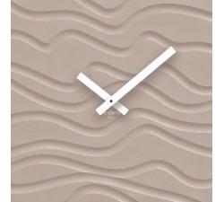 orologio da parete decorativo, quadrato, rexartis desert tortora chiaro